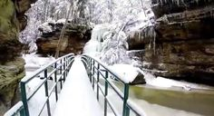 During the winter months after snowfall, the Old Man's Cave hiking trails are downright majestic.