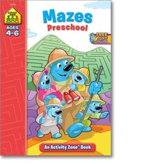Mazes Preschool Activity Zone Workbook