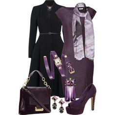 Purple, Black - Polyvore