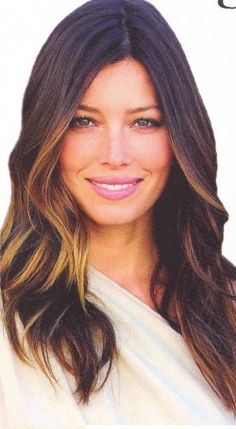 I have always wanted this exact ombre color and style! So pretty!