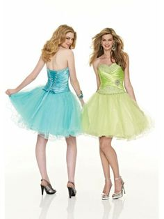 organza A-Line Strapless Sweetheart Neckline Cocktail Dress