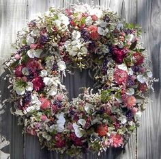Misty Morning (90% naturaly dried flowers) Love Flowers, Diy Flowers, Wreaths And Garlands, Beach Wreaths, Outside Decorations, Dried Flower Arrangements, Wreath Crafts, How To Make Wreaths, Cool Things To Make