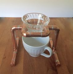 Single Pour Over Coffee Stand Drip Coffee Stand by MacAndLexie