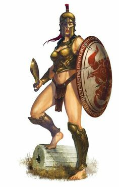 Random Fantasy/RPG artwork I find interesting,(*NOT MINE) from Tolkien to D&D. Fantasy Warrior, Greek Warrior, Warrior Girl, Fantasy Art, Character Inspiration, Character Art, Character Design, Forgotten Realms, Fantasy Characters