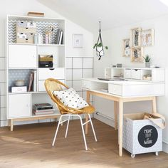 Your teenager is tired of his room too childish, and wants a more mature decoration? Without completely redoing the decoration of his room … by desmotsetduthe Teenage Room, Cute Room Decor, Desk With Drawers, Home Office Decor, Home Decor, New Room, Girl Room, Bedroom Decor, Bedroom Ideas