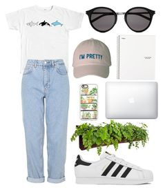 """orca"" by ro3se ❤ liked on Polyvore featuring Boutique, adidas, Woolly Pocket, Casetify and Yves Saint Laurent"