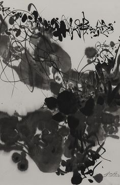 Chu Teh-Chun (Zhu Dequn) 1920-2014. UNTITLED, dated 1984 ink on paper