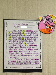 Linking verbs and action verbs activity  5th grade
