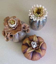 gallery – claywork by mary camin – Ceramic Cactus Ceramic, Ceramic Boxes, Ceramic Flowers, Ceramic Clay, Ceramic Pottery, Pottery Art, Clay Flowers, Totem Pole Art, Totem Poles