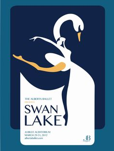 Swan Lake Poster by ~snowbutt on deviantART Ballet Posters, Theatre Posters, Ballet Illustration, S Logo Design, Graphic Design, Swan Lake Ballet, Australian Ballet, Ticket Design, Lake Art