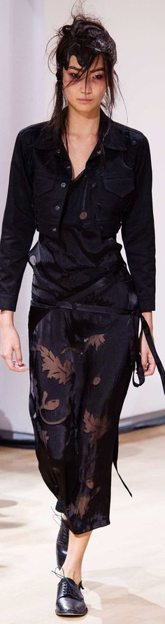Yohji Yamamoto Collection Spring 2015  I bet I could redo this as a MOB outfit.  (different color)