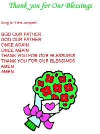 Thank you for Our Blessings
