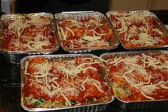 Low fat, low carb, skinny make-ahead casseroles (makes meals) Healthy Freezer Meals, Freezer Cooking, Cooking Recipes, Freezer Lasagna, Thm Recipes, Quick Meals, Chicken Recipes, Recipies, Healthy Recipes