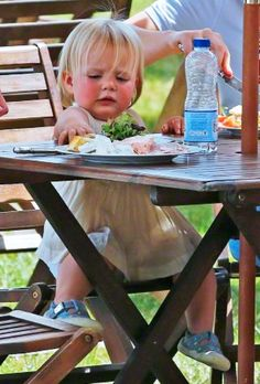 Lunch time..Mia Tindall at the annual Gatcombe Horse Trials 2015