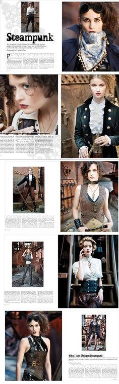 nice spread in b-metro magazine out of Birmingham, AL on Steampunk style