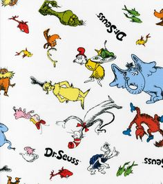 Dr. Seuss All Over Print Fabric Cotton Fabric