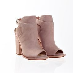 Obsessed with these booties in blush.