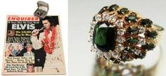 elvis's personal jewelry | En subasta el anillo de 18 quilates, usado por Elvis Presley