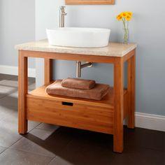 36 marana bamboo vessel sink console vanity bathroom vanities bathroom