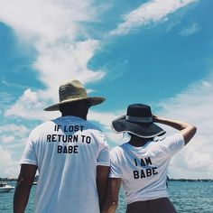 If Lost Return To Babe I Am Babe Couples T-shirt Set Babe Couple T-shirts Set Best Gift funny couple t shirt cute casual tops T-shirt Couple, Couple Tees, Couple Tshirts, Couple Shoot, Funny Couple Shirts, Couple Goals, Couple Clothes, Couples Assortis, Funny Couples