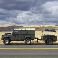 Land Rover Defender 110 with trailer