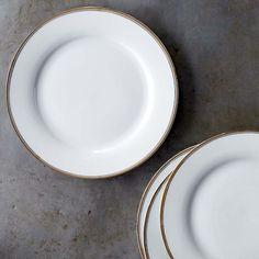 Williams Sonoma Open Kitchen Bistro Dinner Plates, Gold #williamssonoma