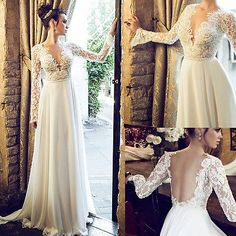 Long Sleeve Crystal Beading Short Formal Cocktail Prom Gown Party Dresses  New. Sexy V-Neck Lace High Slit Wedding Dress Bridal Gown Custom Size 2 4 6  8 10 ... 3bb334adea57