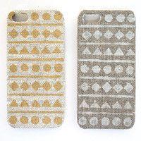 Iphone 5 case ethnic geometric natural linen