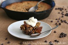 Low Carb Skillet Chocolate Chip Cookie Recipe | All Day I Dream About Food