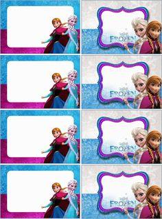 O Tapete Vermelho da Imagem: Images' Red Carpet: Etiquetas escolares de Frozen / Frozen school labe...
