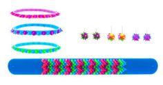 Set of slap bracelet, bracelets and earrings.