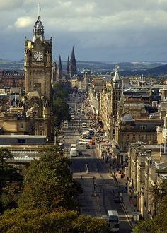 The Princes Street in Edinburgh, Scotland (by Extra Medium).