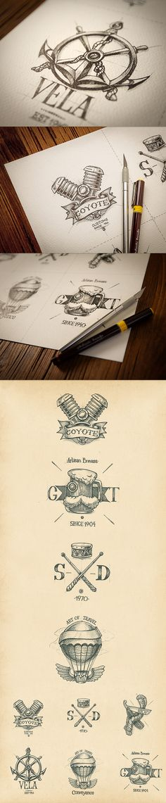 Logotypes collection | 2012-2013 by Mike , via Behance - I like the Anchor image.