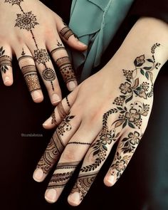 We have presented here a lot of best designs of henna and mehndi for brides and also for modern ladies to wear on wedding and special occasions in year This one is more elegant henna arts for this year. Henna Hand Designs, Eid Mehndi Designs, Mehndi Designs Finger, New Tattoo Designs, Wedding Mehndi Designs, Mehndi Designs For Fingers, Beautiful Henna Designs, Latest Mehndi Designs, Hena Designs