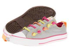 Converse Kids Chuck Taylor® All Star® Loop-2-Knot (Little Kid/Big Kid) Mirage Gray/Multi - 6pm.com