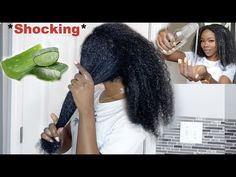 I left ALOE VERA in my hair for 24 hours and this happened *SHOCKING * Aloe vera for hair growth - YouTube How To Grow Natural Hair, Natural Hair Updo, Natural Hair Care, Natural Hair Styles, Short Hair Styles, African Natural Hairstyles, Aloe Vera For Hair, Homemade Skin Care