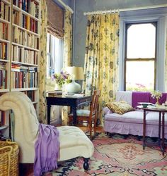 Domino magazine. A room filled with books? What more could a girl ask for?