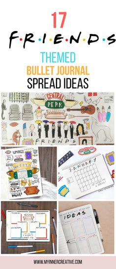 17 F·R·I·E·N·D·S Inspired Bullet Journal Layouts friends tv show inspired bujo Bullet Journal Collections, Bullet Journal Inspo, Bullet Journal Spread, Bullet Journal Ideas Pages, Bullet Journal Layout, Journal Pages, Bullet Journals, Bullet Journal Printables, Friends Tv Show