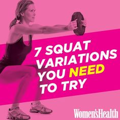 Good site for series on various areas to workout.Offers exercises with and without Squat Variations You NEED to Try via Penner Penner Crowe's Health Magazine Fitness Workouts, Fitness Motivation, Fitness Tips, Health Fitness, Women's Health, Fitness Challenges, Core Workouts, Daily Workouts, Fitness Fun