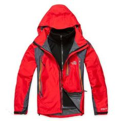 North Face Gore Tex Pro Shell Jacket Red-Mens