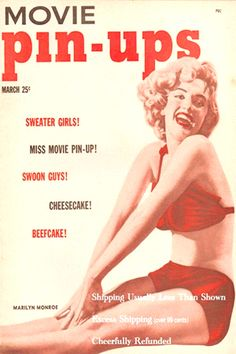 1952 March issue: Movie Pin Ups (USA) magazine cover of Marilyn Monroe .... #marilynmonroe #normajeane #vintagemagazine #pinup #iconic #raremagazine #magazinecover #hollywoodactress #1950s