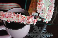Another cheery idea for the Holidays- Chocolate Peppermint Biscotti