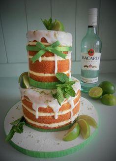 """""""Naked"""" Mojito Cake"""