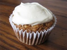 Carrot Cupcakes with Maple Cream Cheese Frosting by Healthy Food For Living