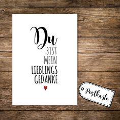 Humor - Postkarte postcard Lieblingsgedanke Liebe p56 - ein Designerstück von IlkaParey bei DaWanda
