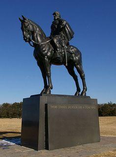 "The ""Stonewall"" Jackson statue at Manassas National Battlefield Park."