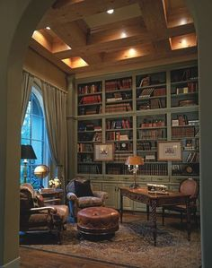 great library, nice colors, great ceiling. wish the drapes went all the way to the ceiling though. Ashwood Manor Design 9254 Den / Library