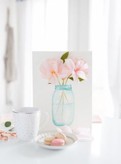 Easy, lovely DIY Mother's day card from MichaelsMakers  Craftberrybush