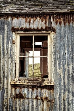 Isle of Scalpay. Peeling Paint and Rust.   Eilean Siar, Scotland.