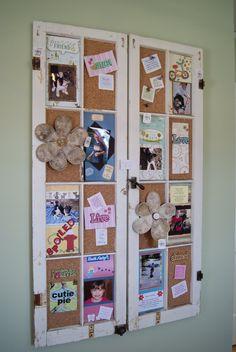 nest full of eggs: spring 11 ideas house, window frames add cork board for family bulletin board
